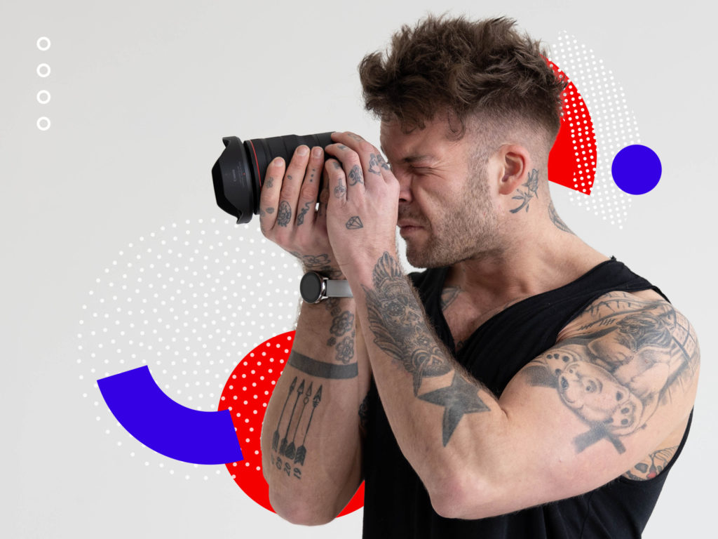 A man looking through a lens –image being used for an article on how you can transform your video content in pre-production